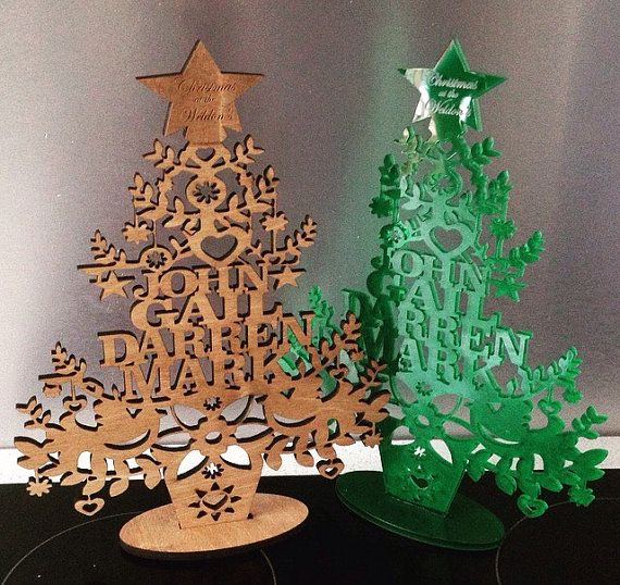 Completely Personalised To You Made From 5mm Green Acrylic 10 Inches High  Approx Made To Order. Beautiful GiftsPersonalised Christmas Tree ...
