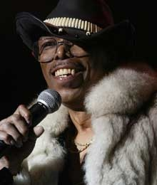 Leroy Bonner, lead singer for the Ohio Players, performs during the Midtown Music Festival in Atlanta. He died Saturday at age 69.  Known for the phrase..Awwwwh girl..