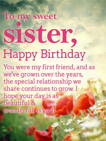 178 best birthday cards for sister images by birthday greeting happy birthday wishes card for sister a sunny sky m4hsunfo