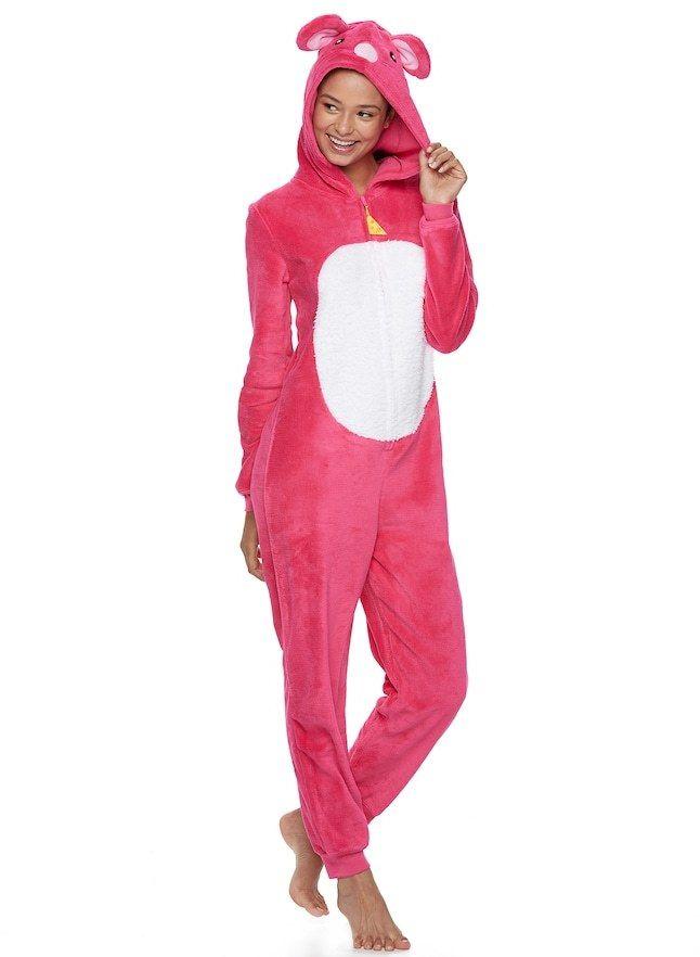 SO Juniors' SO® Mouse Costume One-Piece Pajamas