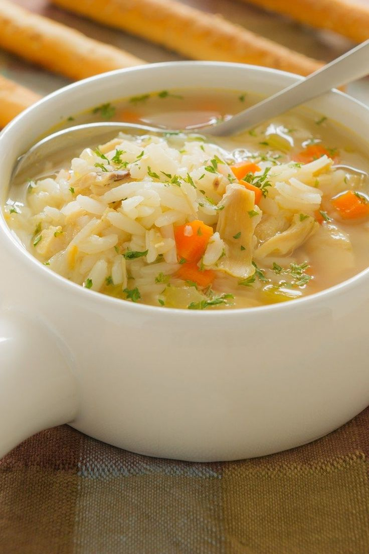 Lemon Chicken Rice Soup Recipe