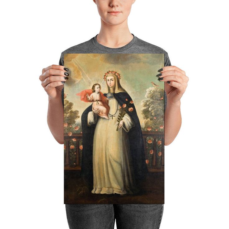 Now on #etsy: St Rose of Lima - religious poster - art print - catholic saints serie by @terrytiles2014 #strose #rose #roseoflima #lima #poster #catholic #saints http://etsy.me/2ongVi4