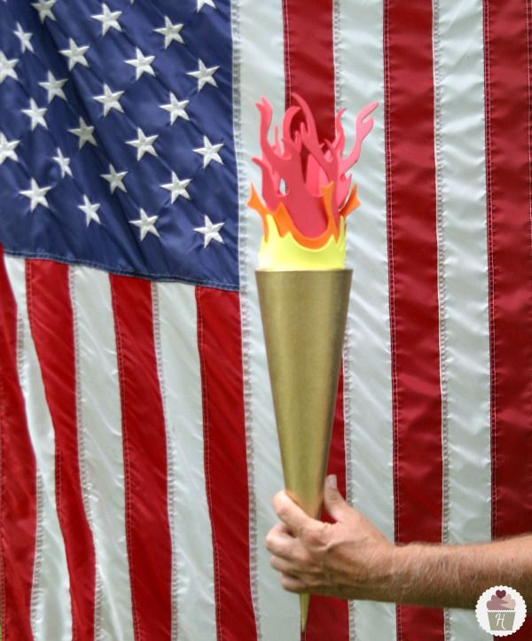 How to make an Olympic Torch this would be so cute for the jr. Olympics next year!