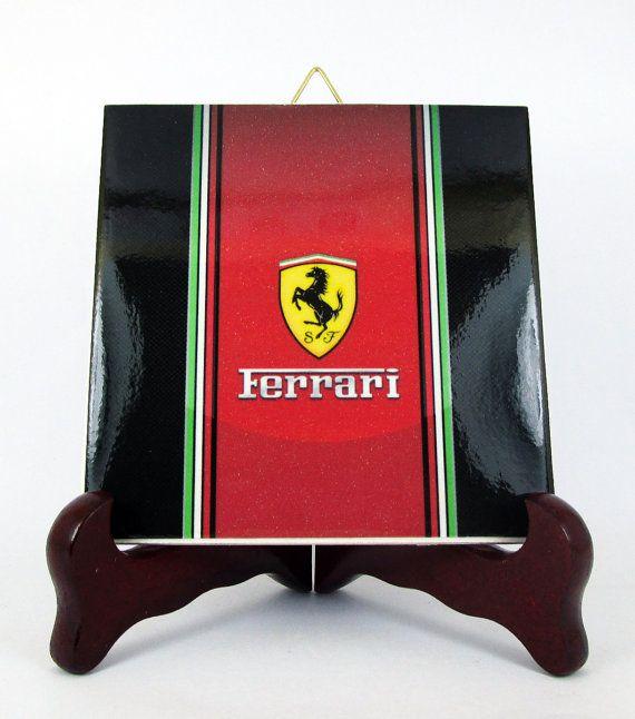 Ferrari Ceramic Tile Made in Italy Scuderia F1 by TerryTiles2014