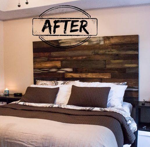 Sweet dreams a new pallet headboard shelf lights for Pallet headboard with shelves