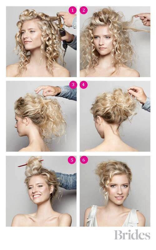 Curly hair bun