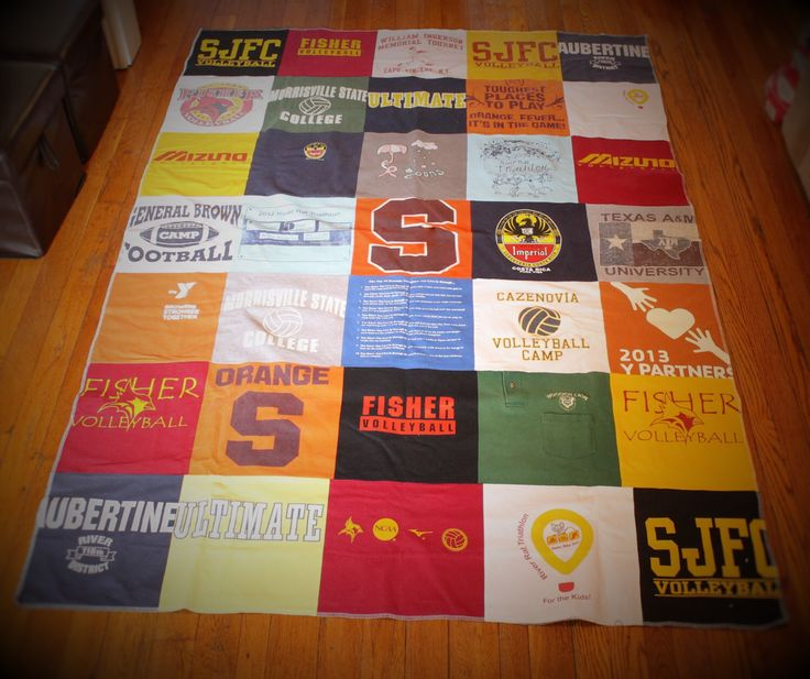 A personal favorite from my Etsy shop https://www.etsy.com/listing/266436586/custom-t-shirt-quilt-t-shirt-full-size
