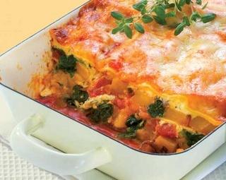 Pumpkin & Spinach Lasagne