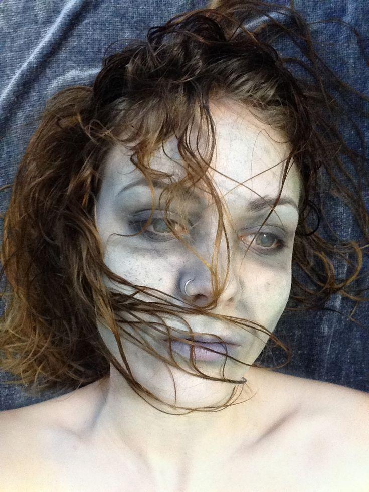 Drowning victim makeup.