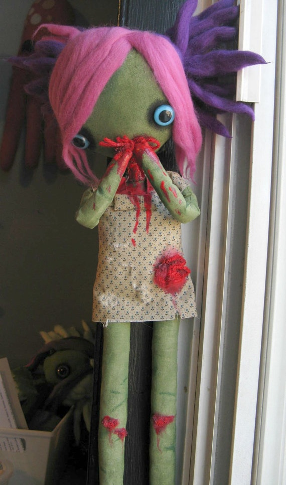 zombie doll  jenny the cutest handmade zombie doll by coldbones, $70.00 (SOLD)