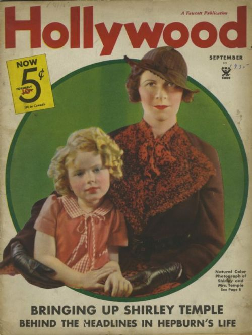 Shirley Temple and mom | Shirley Temple and her mother on the cover of Hollywood magazine ...