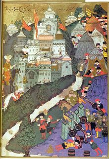 Ottoman Empire - Battle of Nicopolis in 1396. Painting from 1523.-Wikipedia, the free encyclopedia