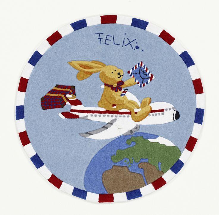 Felix der Hase Teppich Flieger