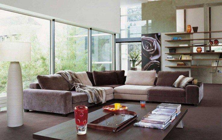 Sofa-couch-sofa-Salon-rochebobois-damasquin-supple-biblio