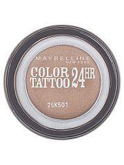 """Тени для век """"Color Tattoo 24 часа"""" оттенок 35 Бронзовый рай 4 мл Maybelline New York  Технология тату-пигментов теней для век """"Color Tattoo 24 часа"""" создает яркий супернасыщенный цвет. Крем-гелевая текстура обеспечивает ультралегкое нанесение и стойкость на 24 часа. Способ применения: нанеси каплю на веко и растушуй ее от внутреннего угла глаза к внешнему.. Тени для век """"Color Tattoo 24 часа"""" оттенок 35 Бронзовый рай 4 мл Maybelline New York промокоды купоны акции."""