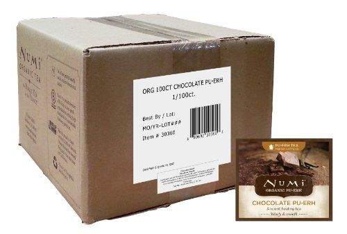 Numi Chocolate Pu-erh, 100 Count - http://bestchocolateshop.com/numi-chocolate-pu-erh-100-count/