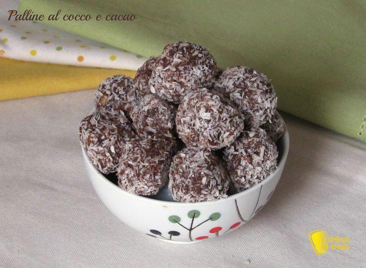Palline al cocco e cacao (ricetta veloce senza cottura)