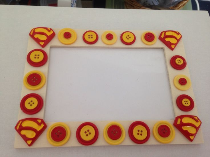Superman button frames