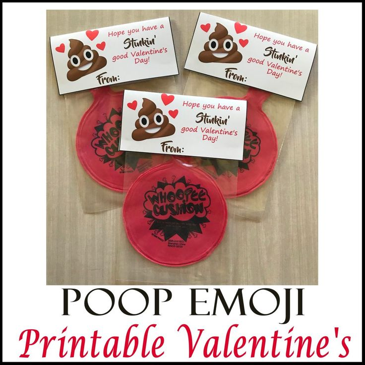 Poop Emoji Whoopee Cushion Valentineu0027s