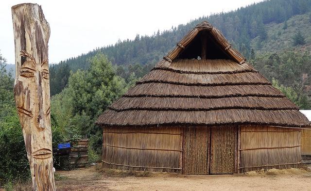 Ruca Mapuche en Vichuquen (Chile) by Leon Calquin, via Flickr