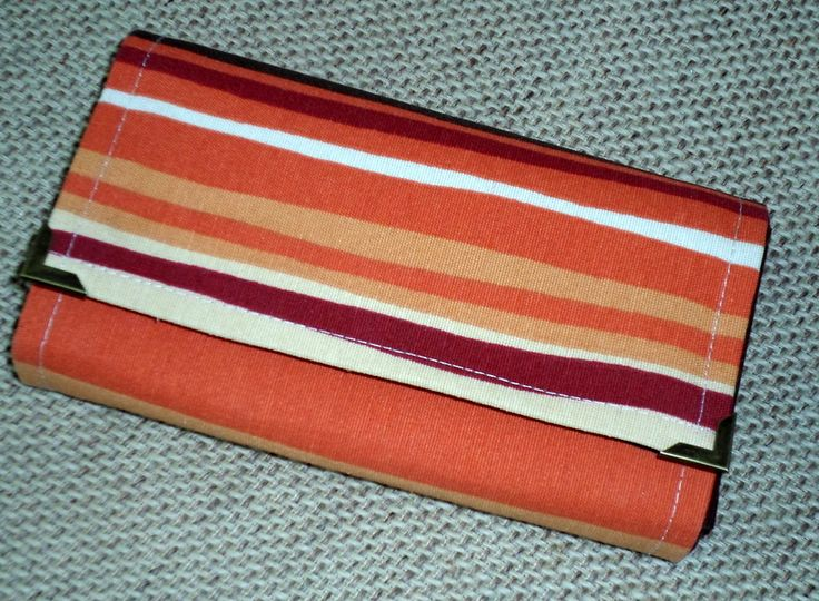 Vlastnoručne  zhotovená peňaženka z  bavlny