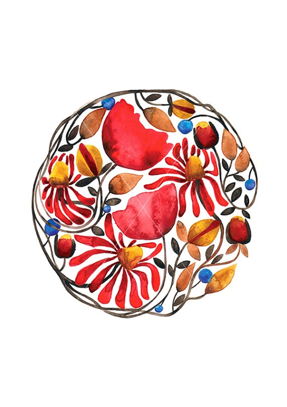 barbara szepesi szucsBarbara Szepesi, Watercolors Tattoo Mandalas, Poppies Red, Mandalas Leaves, Watercolor Illustration, Watercolors Illustration, Flower Mandalas, Tattoo Watercolors Mandalas, Leaves Watercolors