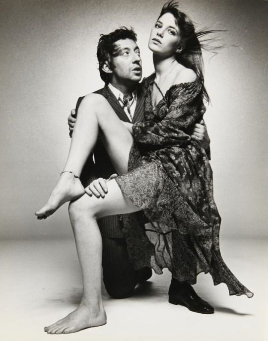 Serge Gainsbourg and Jane Birkin by Terry O'Neill, 1969
