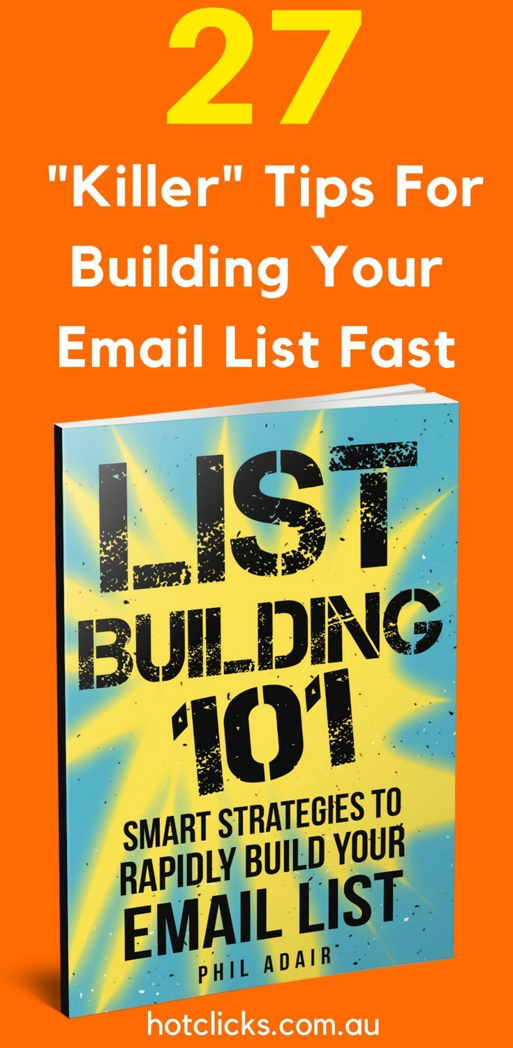 27 Killer Tips To Building Your Email List Fast: Download The eBook Now: https://hotclicks.lpages.co/27-smart-list-building-strategies/  27 Killer Tips To #Building Your #Email #List #Fast