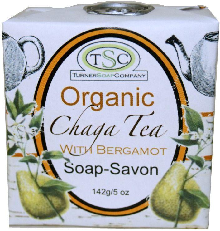 Organic Chaga Tea with Bergamot Soap Bar. Super Chaga!