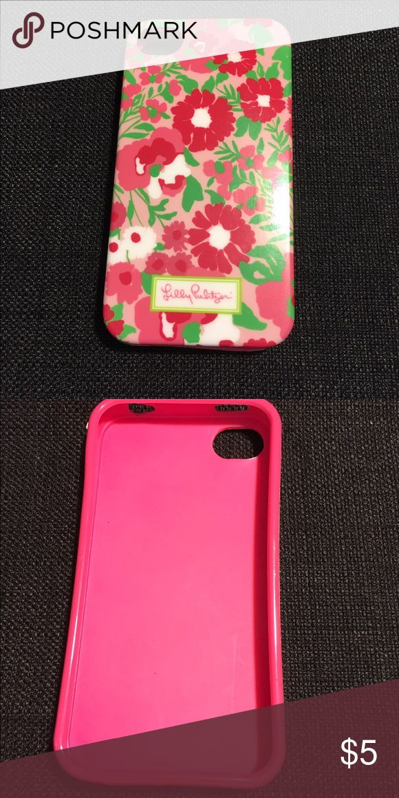 Lilly Pulitzer iPhone 4 case Cute Lilly Pulitzer iPhone 4 case, good condition and gently used, feel free to ask me to bundle all my iPhone 4 cases for a discounted price! Lilly Pulitzer Accessories Phone Cases