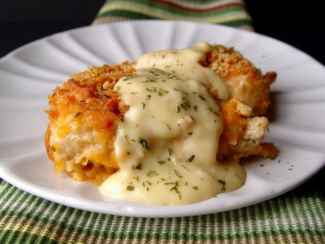 Crispy Cheddar Chicken.  Made this for supper - ymmm!  Forgot the sauce but didn't need it.