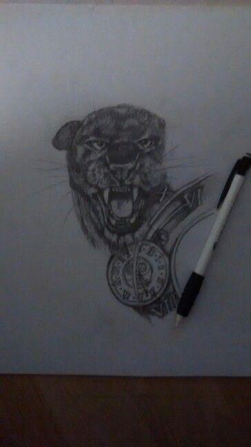 Panther drawing