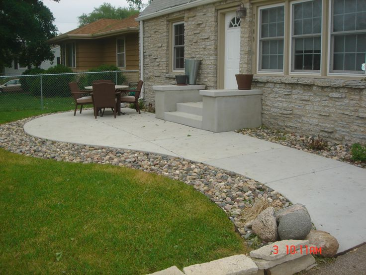 Concrete front porch patio write your feedback about concrete patio designs for warm look - Concrete backyard design ...