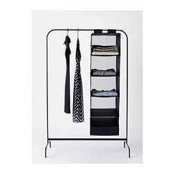 Mulig clothes rack black ikea alternate for Hanger for clothes ikea