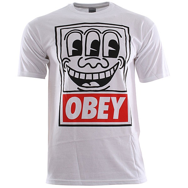 Obey Keith Haring Eyes T-Shirt - White