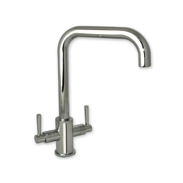 erise chrome u spout twin handle swivel spout kitchen sink mixer tap. Interior Design Ideas. Home Design Ideas