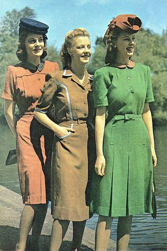 Wartime Britain Fashion, June 1943 I want clothes like this. Classic, modest, wearable.