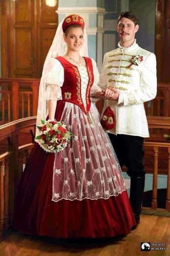 Hungarian Traditional Wedding Dresses For Men And Women