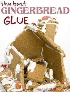 """No fail recipe for Christmas """"Gingerbread Glue"""" - it will make it easier for kids to build their own this season!"""