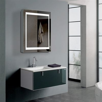 innociusa illumirror led mirrored medicine cabinet with lights on each side