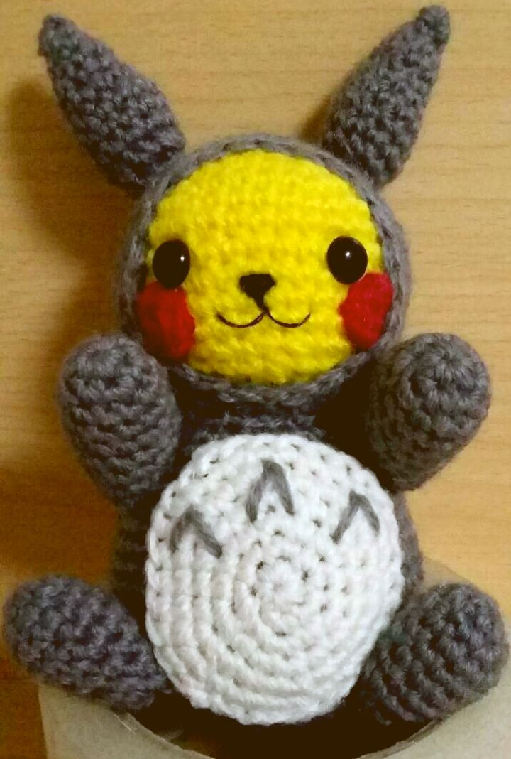 Pikachu with totoro costume