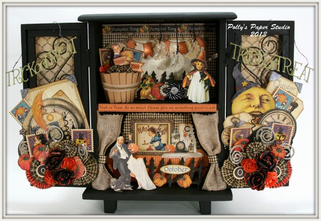Polly's Paper Studio - Graphic 45 Halloween Mini Cupboard