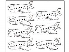 7 Repülő - Szám gyakorló gyerekeknek