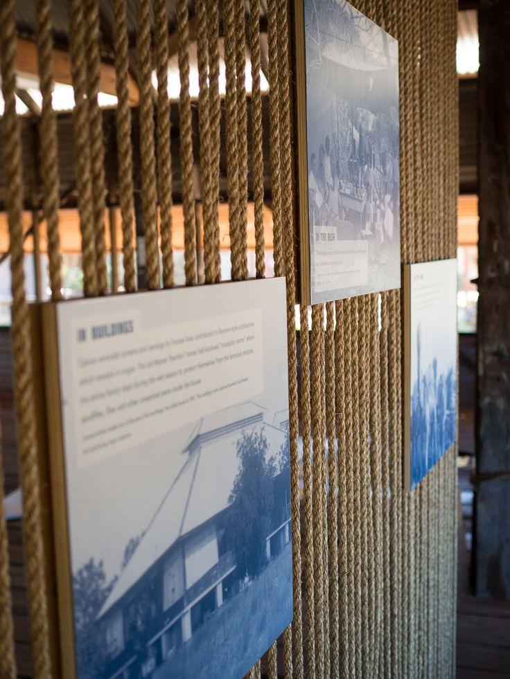 Broome Museum Sailmaker's Shed designed by Creative Spaces | Exhibition Design | Graphic Design | Interpretive Design