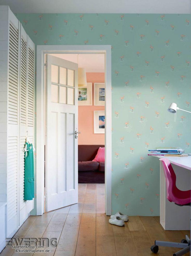 Kinderzimmer Einrichten Tapete : Kinderzimmer – gem?tliche Kinderzimmer mit Tapete einrichten