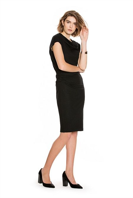 Women's Clothing New In | Country Road Online - Felt Body-Con Dress