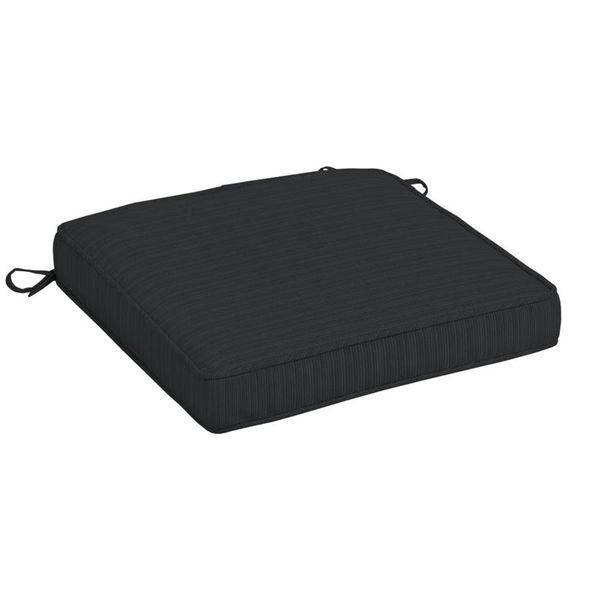 Black Anthracite Olefin Premium Seat Cushion Dining Chair