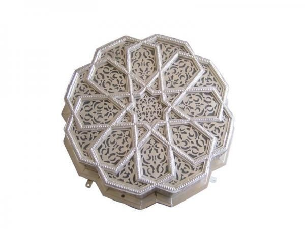 Silver Plated Moroccan Ceiling Light Fixture Chandelier #Moroccan