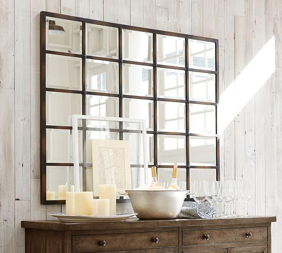 eagan multipanel large mirror 44 x 55 bronze finish tpferei scheunen - Tpferei Scheune Kleine Wohnzimmer Ideen