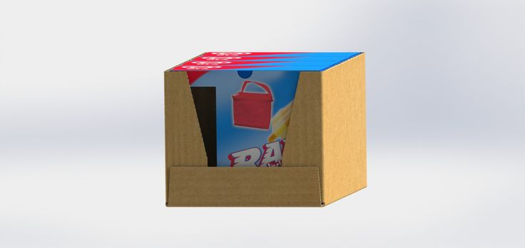 Structural packaging design of primary and secundary packaging for Ola Rocket ice cream
